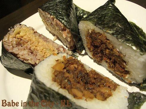 MG - onigiri - brown rice tuna (RM3.50) & sambal shrimp (RM3.20)