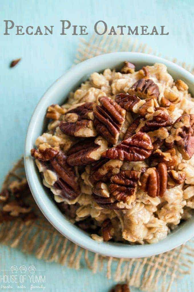 Pecan Pie Oatmeal | from House of Yum