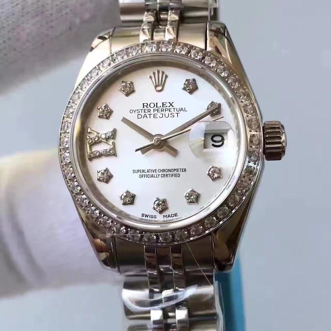 33mm Rolex Datejust MOP White