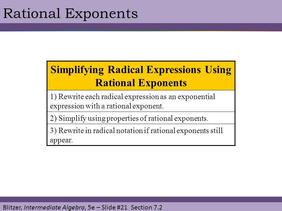 33 Radical Expressions And Rational Exponents Worksheet ...