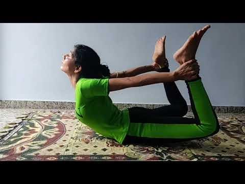 Dhanurasana yoga,Bow pose