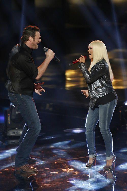 The Voice (11-19-2012), Christina Aguilera, Blake Shelton
