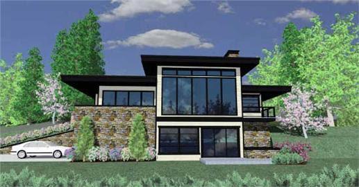 Modern House Plans - Home Design M-