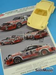 Maqueta de coche 1/24 Arena - Porsche 911SC Grupo 4 Eminence Nº 6 - Bjorn Waldegaard + Hans Thorszelius - Rally de Montecarlo 1982 - maqueta de resina image