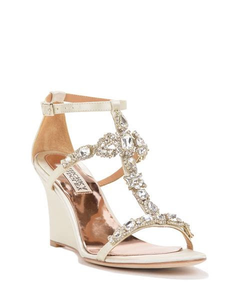 Melissa Strappy Wedge Evening Shoe $225   come in gold