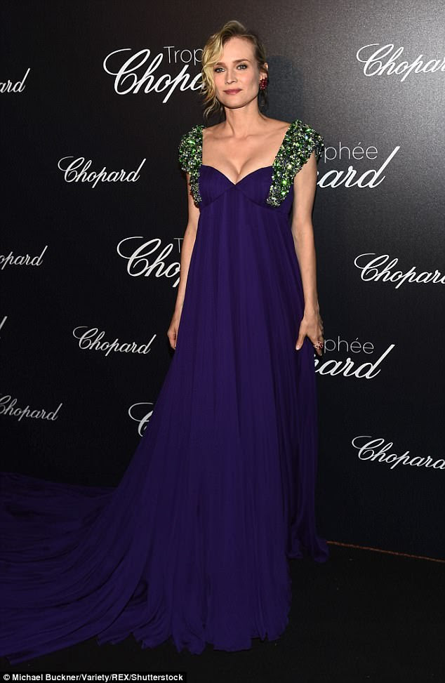 Making an entrance: Diane Kruger turned heads at the Trophee Chopard ceremony during Cannes Film Festival on Monday night