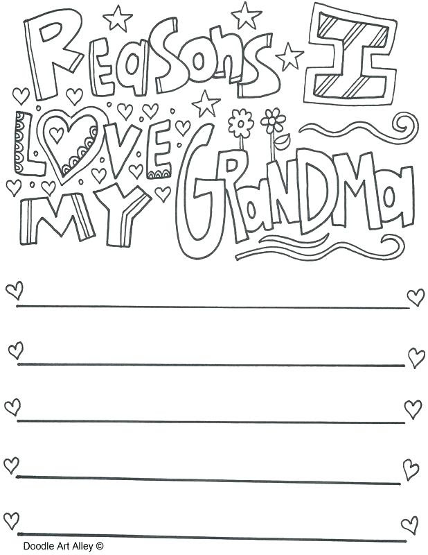 I Love My Grandma Coloring Pages at GetDrawings | Free ...