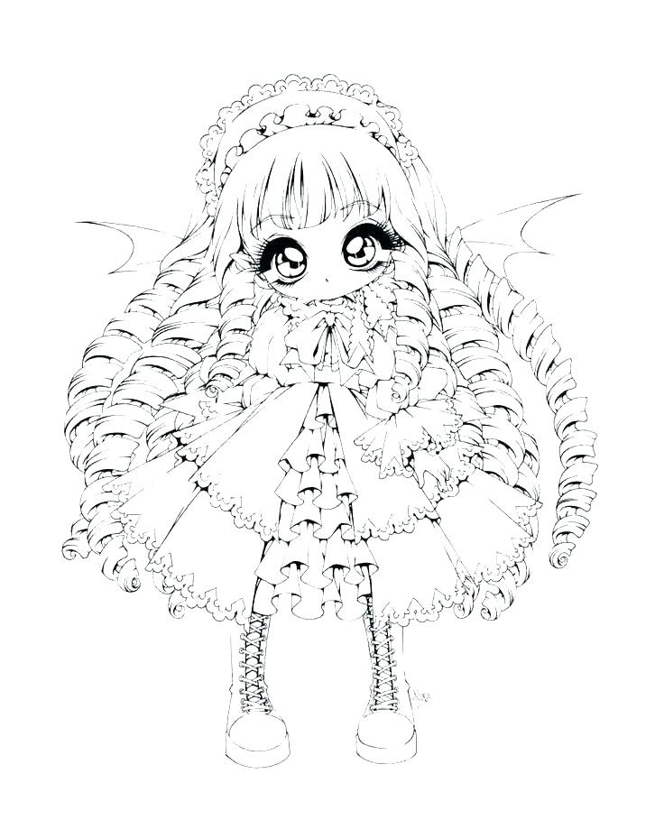 Colouring Pages for Girls @preschool@ Cute Anime Chibi Girl ... | 929x736