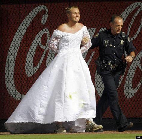 Man In Wedding Dress Interrupts Baseball Game   National