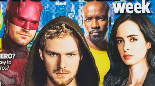 Recorte portada de la revista TV & Satellite Week dedicada a The Defenders