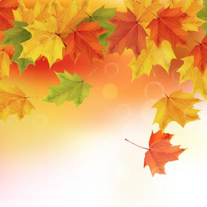葉が舞い落ちる秋の紅葉背景のイラストaieps ベクタークラブ