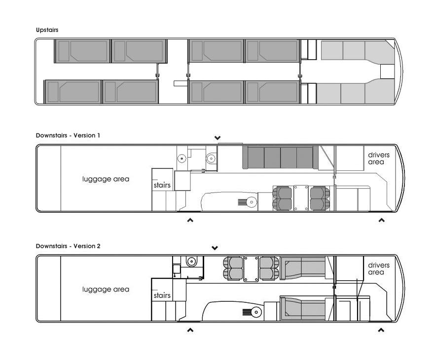 Double Decker Rv Floor Plans