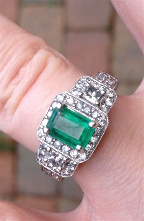 Emerald or green stone engagement ringsplease share yours