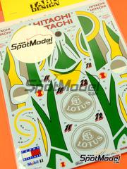 Calcas 1/20 Tabu - Lotus Mugen-Honda 107C Hitachi Nº 11, 12 - Alessandro Zanardi - Campeonato del Mundo 1994 - para kit de Tamiya TAM20038