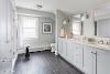 Grey Wood Tile Floor Bathroom Pictures