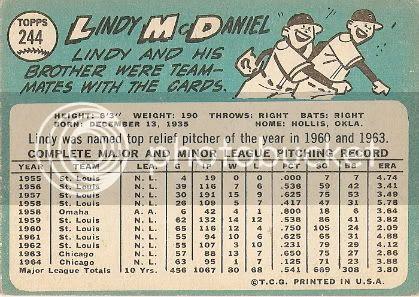 #244 Lindy McDaniel (back)