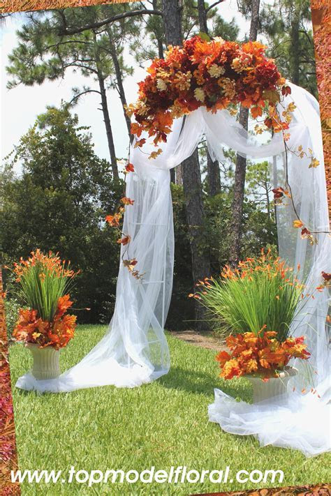 Fall Wedding Arch & Decorating Ideas   Unique Floral