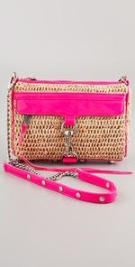 Rebecca Minkoff Straw Neon Mini MAC Bag