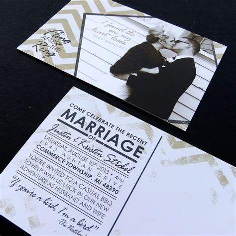 Post Wedding Celebration Invitation    Custom Printable