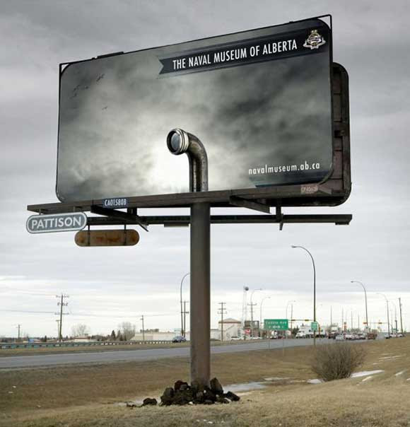 The Naval Museum of Alberta: Billboard