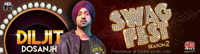 Red Live Swag Fest Diljit Dosanjh Leisure Valley Creative