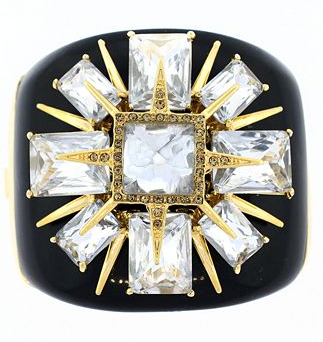 Vince Camuto Resin Hinged Cuff Bracelet