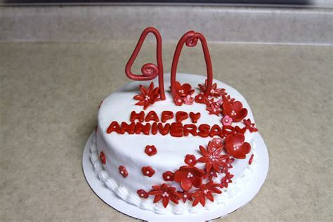 Michele Robinson Cakes: 40th Anniversary Cake
