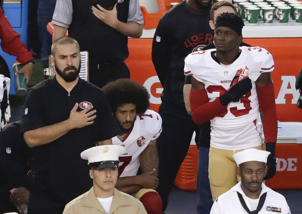 Image result for colin kaepernick national anthem