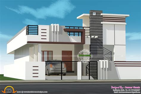small house  car parking construction elevation