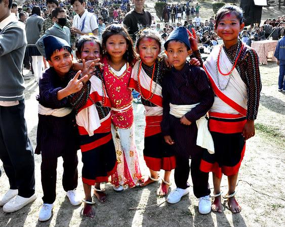 Six Dancing Schoolchildren