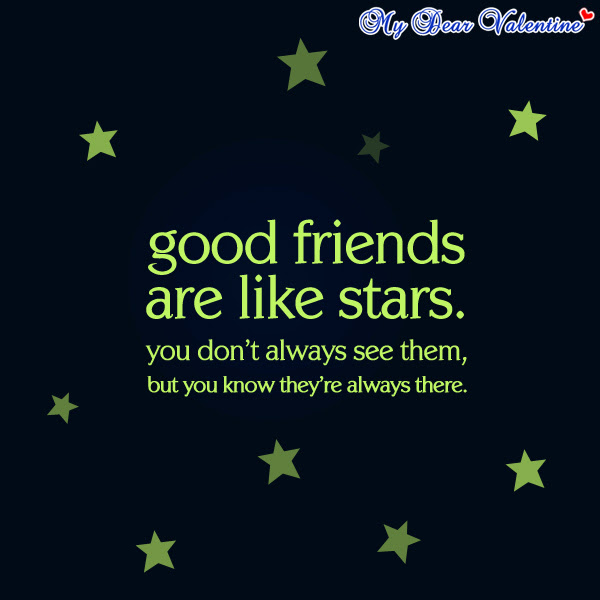 Good Friends Are Like Stars Best Friend Quote Quotespicturescom