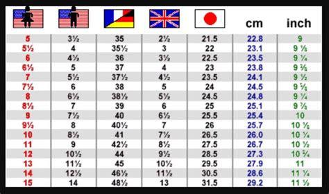 details  womens shoe size conversion chart  uk eu japanese reference   shoe