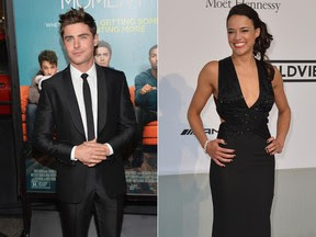 Zac Efron e Michelle Rodriguez (Foto: Getty Images | AFP)