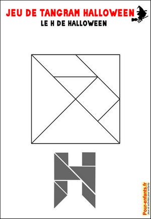 Jeux de tangram à imprimer jeu tangram lettre H