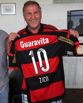 Zico, nova camisa do Flamengo (Foto: Divulgação / Flamengo.com.br)