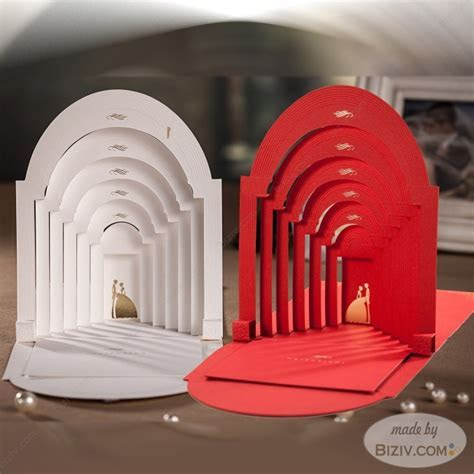 3D style creative wedding invitations Biziv promotional