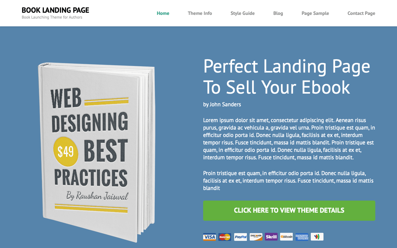 Book Landing Page Template