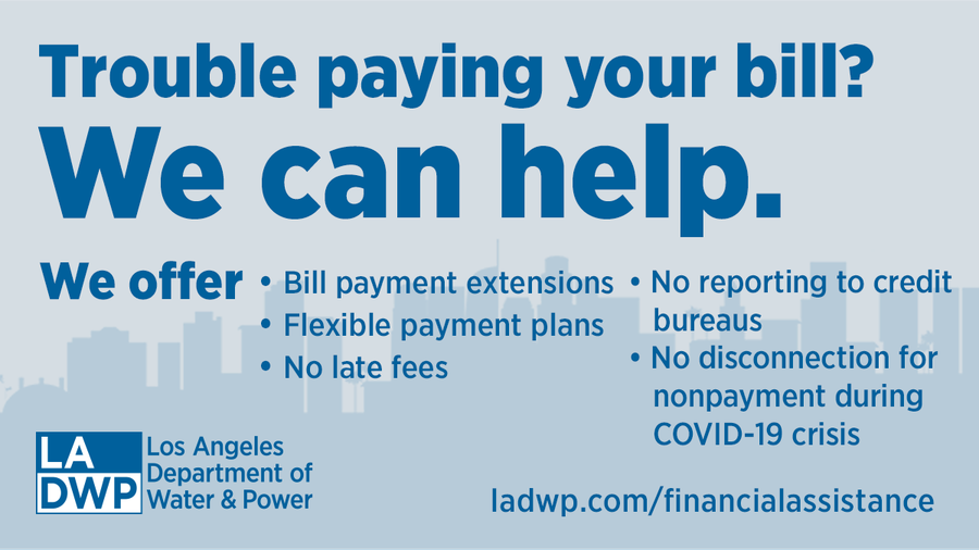LADWP Flyer Trouble Paying Your Bill?
