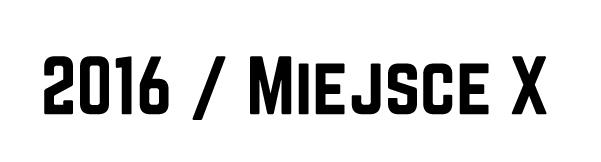 2016 / Miejsce X