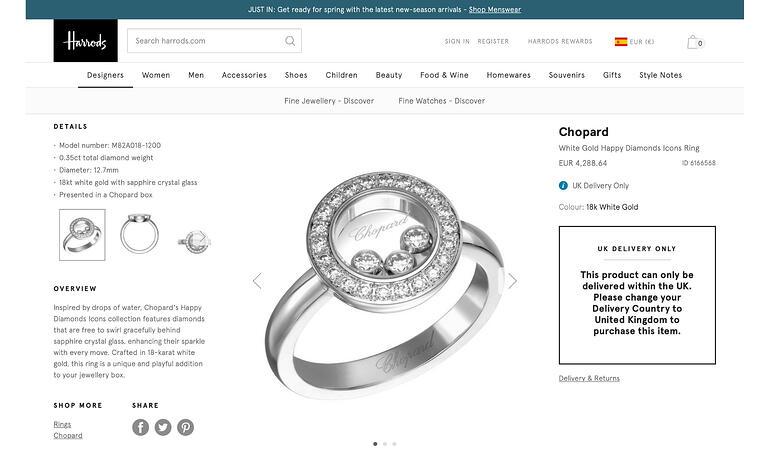 Jewelry online shop trends