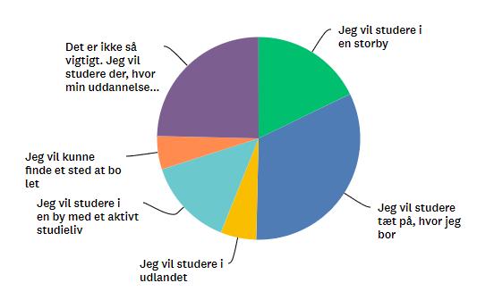 hvad er det vigtigste i dit valg af studieby
