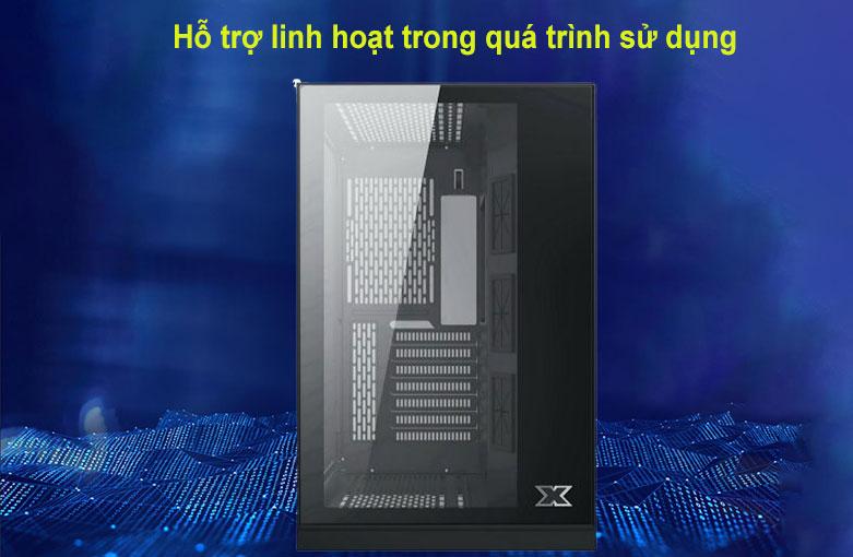 Case Xigmatek AQUARIUS S BLACK (No Fan) Đen (EN46508) | Hỗ trợ linh hoạt trong quá trình sử dụng