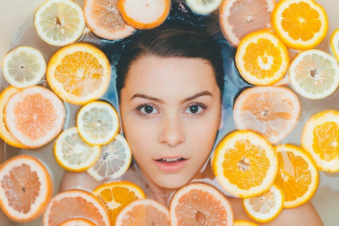 yogurt face mask with oranges