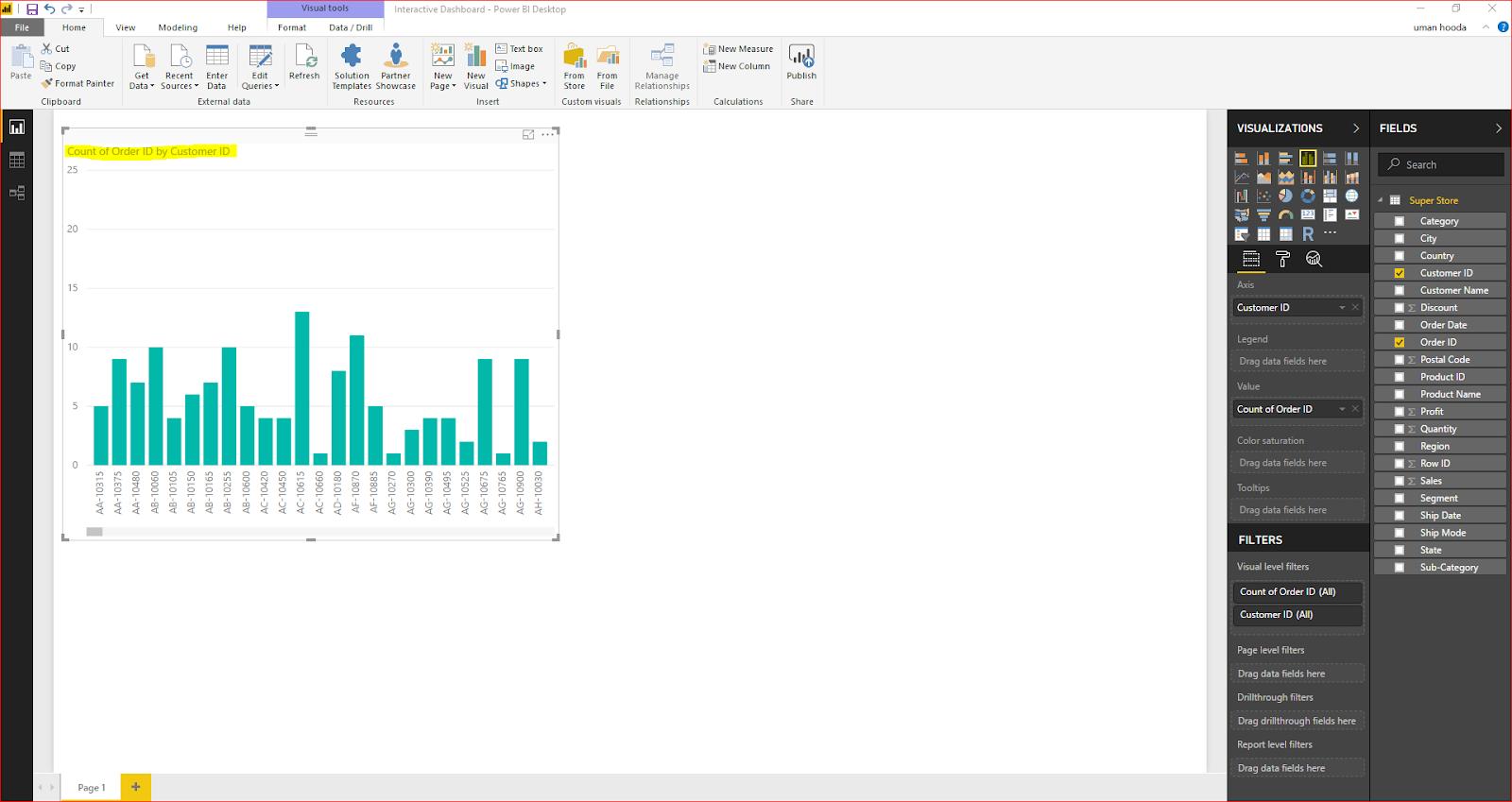Interactive Dashboard In Microsoft Power BI 31