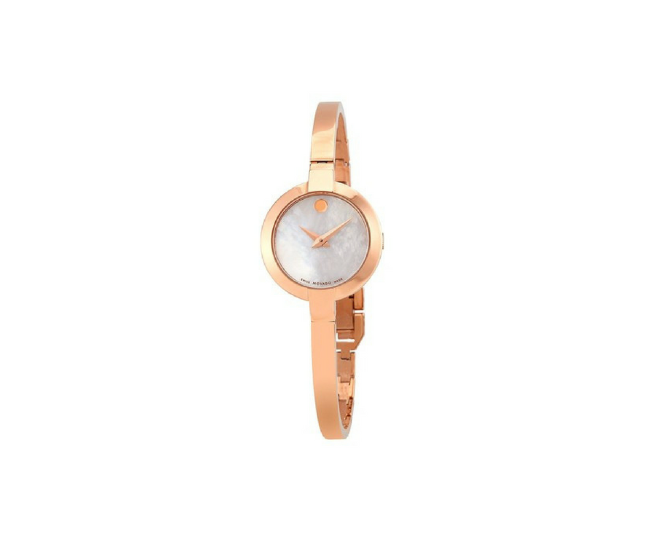 Movado Bela White Mother of Pearl Dial Women's Watch