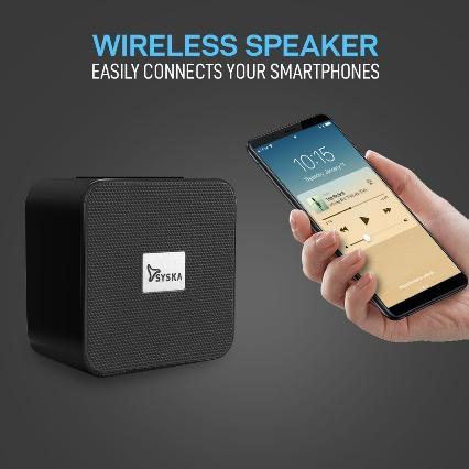 Z:\Client Resources\Syska\Content 2020\BT4070X\BLACK\LISTING\Wirreless speaker.jpg