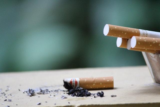 A photo of cigarettes.