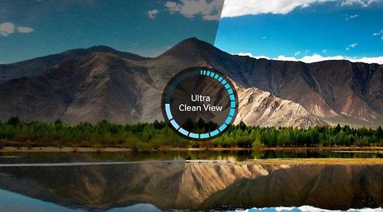 công nghệ Ultra Clean View được tích hợp sẵn trong tivi