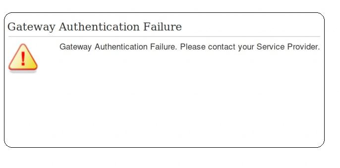 Fix: Gateway Authentication Failure U-verse