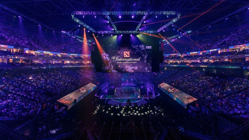 Previous year's Dota 2 The International with the audience during main stage